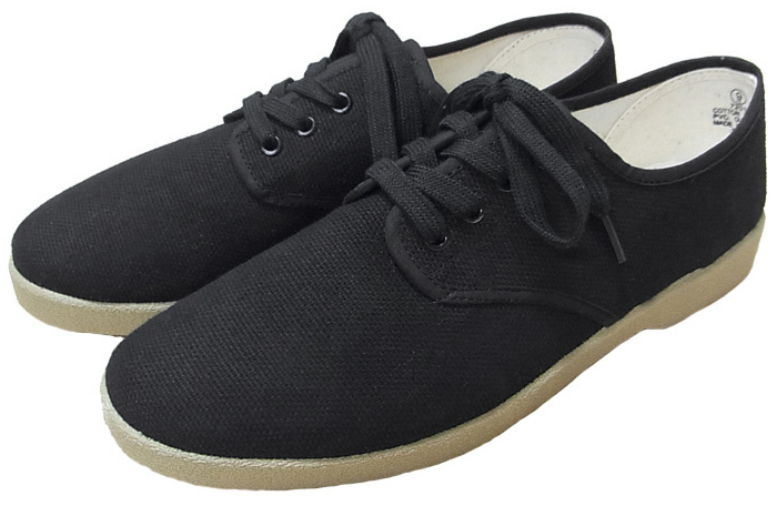 Zig-Zag Shoes , « Winos » black low top Since 1979